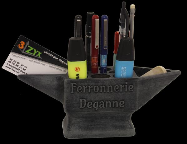 accessoires : pot à crayons enclume